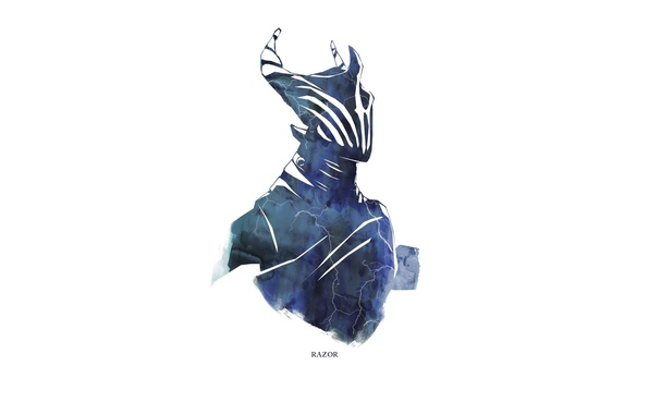 Картинка гроза, молния, Game, dota 2, Minimalism, Razor