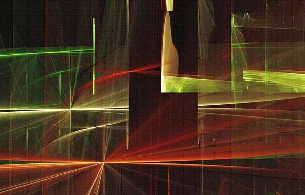 Картинка свет, линии, абстракция, полотно, цвет, холст