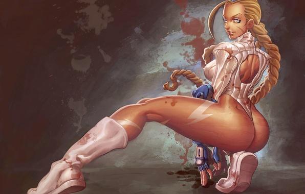 Картинка попа, грудь, девушка, форма, Cammy, STREET FIGHTER
