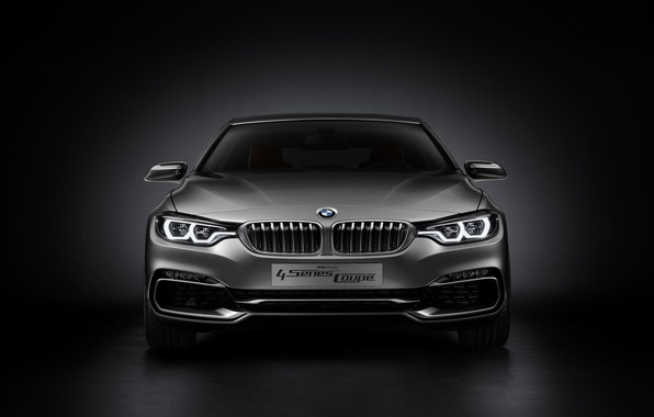 Картинка Concept, BMW, Car, Coupe, 2013, Silver, 4 Series, BMW 4 Series Coupe Concept 2013, Front …