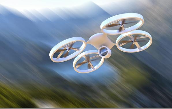 Картинка полет, абстракция, скорость, размытость, арт, вертолет, боке, helicopter, беспилотный, четыре, классический, аппарат, быстрый, дрон, БЛА, ...