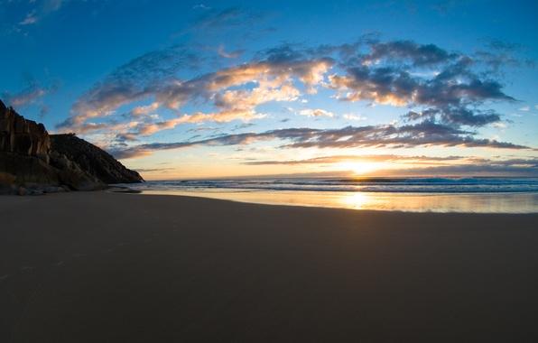 Картинка песок, море, пляж, небо, вода, пейзаж, океан, берег