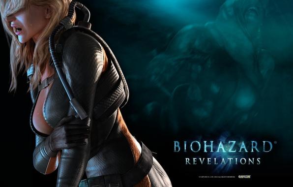 Картинка грудь, волосы, монстр, боль, umbrella, Resident Evil, мутант, Capcom, Водолазный костюм, Resident Evil: Revelations, Biohazard, …