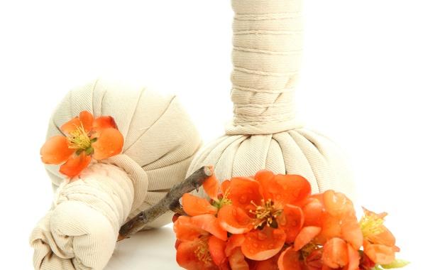 Картинка цветы, спа, мешочки