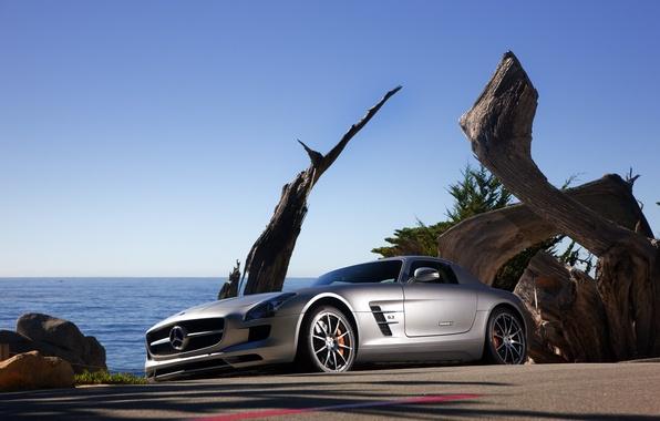 Картинка дорога, авто, машины, дороги, тачки, мерседесы, mercedes sls amg 2011, auto pictures road