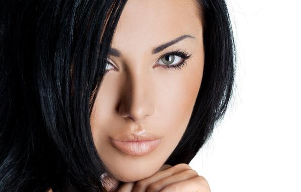 Картинка eyes, model, brunette, look