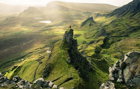 Картинка зелень, холмы, Skye, The Quiraing