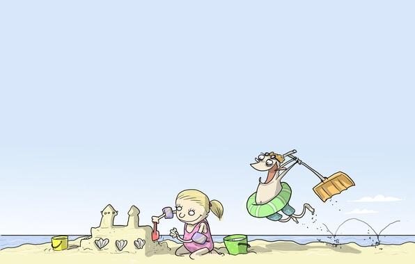 Картинка дети, юмор, Wulffmorgenthaler, карикатура