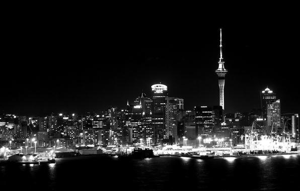 Картинка ночь, сити, city, город, lights, огни