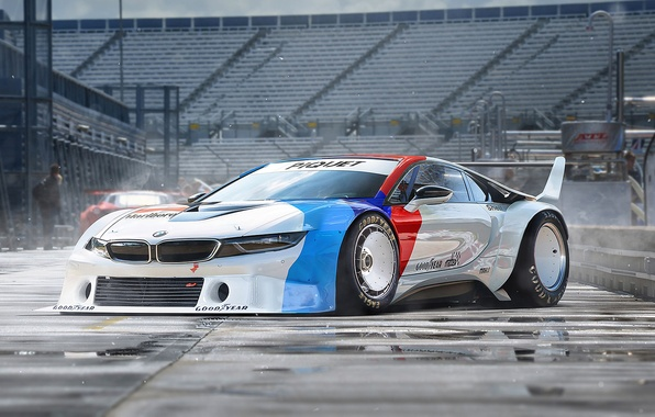 Картинка BMW, Car, Race, White, Tuning, Future, by Khyzyl Saleem, Procar