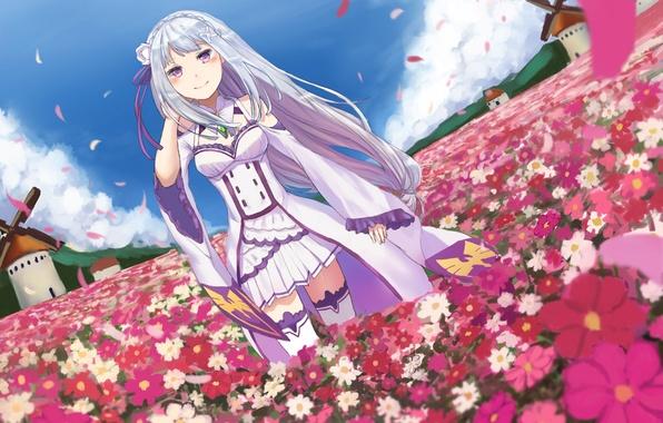 Цветы картинки аниме