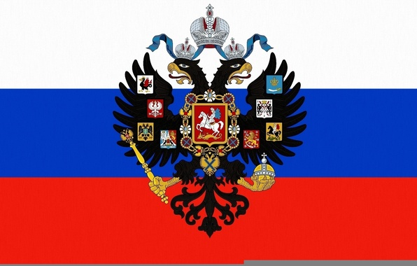 Обои картинки фото флаг герб россия