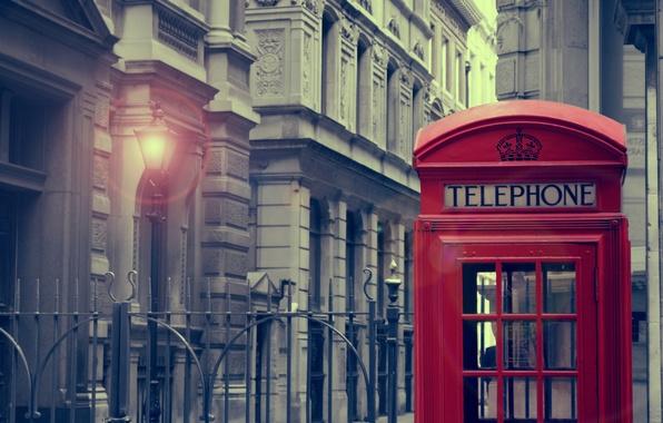 Обои картинки фото london, город, фонарь, телефонная будка