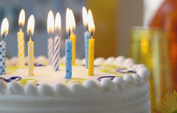 Картинка свечи, торт, крем