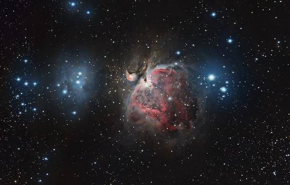 Картинка космос, туманность, пространство, звёзды, созвездие, мироздание, Ориона