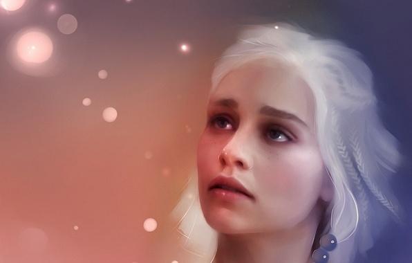 Картинка девушка, рисунок, красиво, красивая, живопись, art, игра престолов, game of thrones, Таргариен, Targaryen, кхалиси, эмилия …