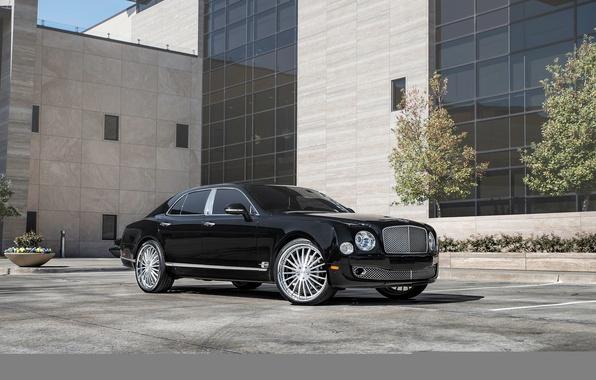 Картинка черный, Bentley, Black, бентли, Mulsanne, мульсан