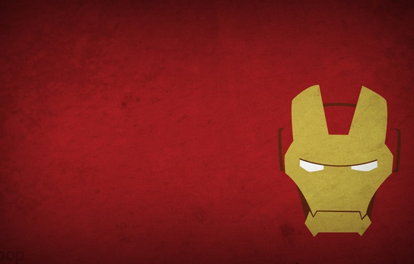 Картинка рисунок, минимализм, minimalism, железный человек, Iron Man, 1920x1080, picture