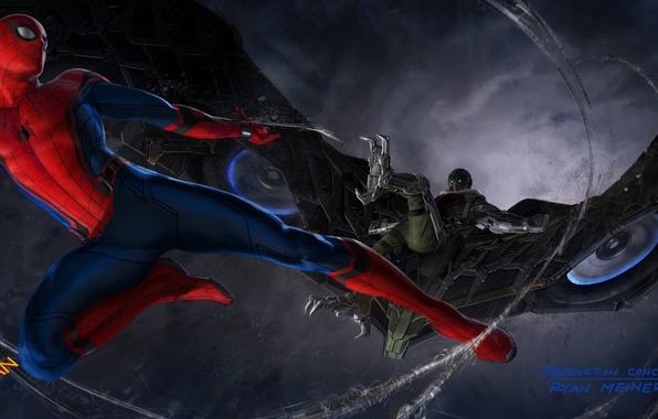 Картинка Marvel, Spider-man, Vulture, concept-art, Человек Паук, Стервятник, Spider-man homecoming