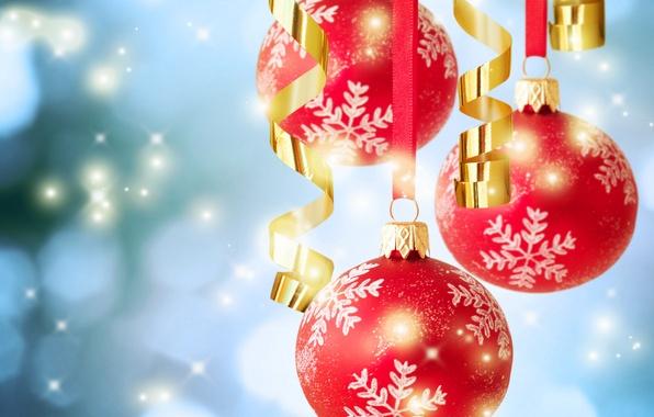 Картинка шарики, фото, Рождество, Новый год, праздники