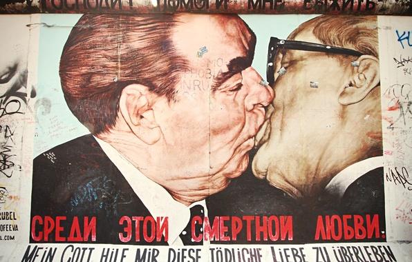 Картинка улица, плакат, Berlin, Брежнев