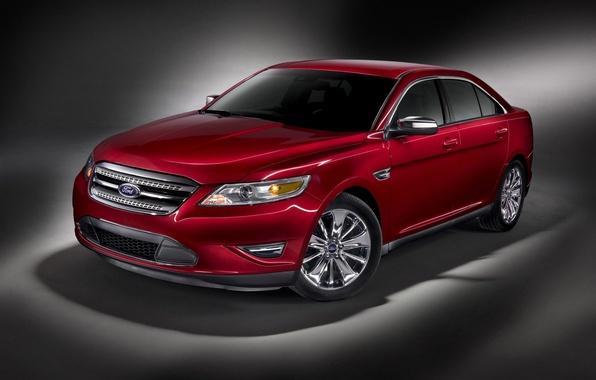Картинка красный, Ford, taurus