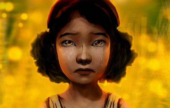 Картинка game, слёзы, clementine, walking dead, Клементина