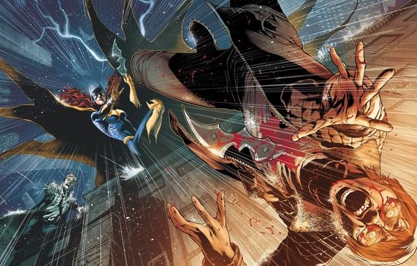 Картинка batman, DC Comics, James Gordon, batgirl, Barbara Gordon