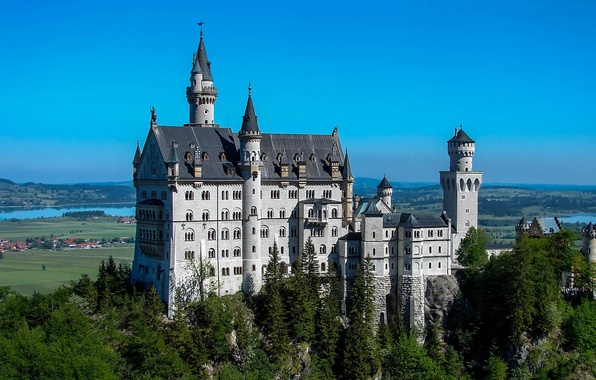 Картинка замок, Германия, Бавария, Neuschwanstein, Нойшванштайн, castle