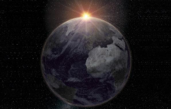 Картинка солнце, космос, земля, вселенная, планета, звёзды, space, universe, star