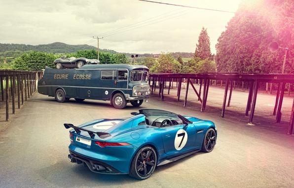 Картинка Concept, Jaguar, Project 7, какой-то авобус, Jaguar D-Type 1954