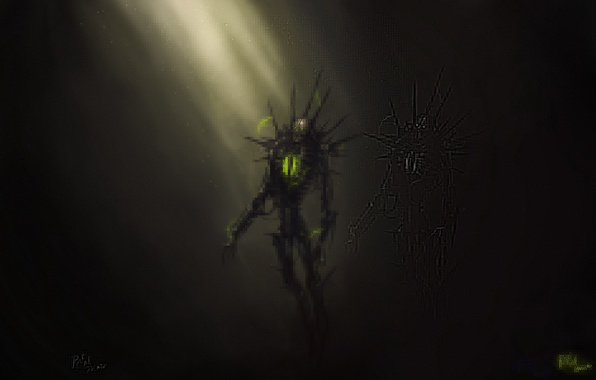 Картинка энергия, тьма, Warhammer 40k, некроны, necrons