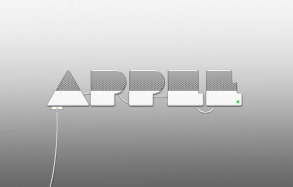 Картинка металл, Apple, Логотип