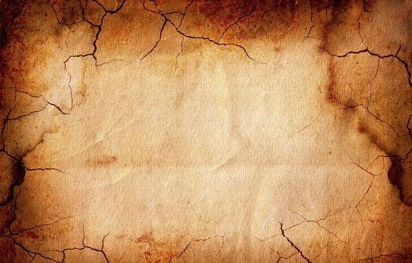 Картинка желтый, трещины, бумага, огонь, текстура, коричневый, трещина, бумажный фон