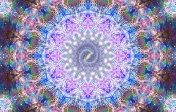 Картинка свет, абстракция, сияние, фон, узор, краски, графика, блеск, круг, свечение, текстура, Галактика, блестки, сфера, Млечный …
