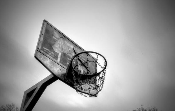 Картинка спорт, кольцо, щит, баскетбол