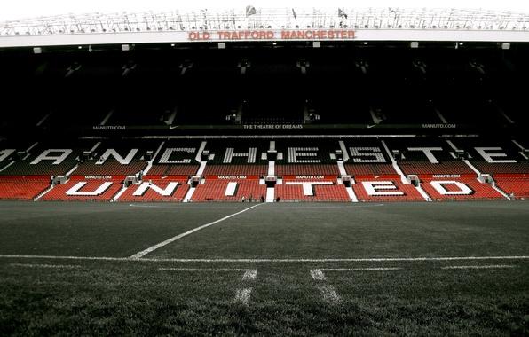 Картинка stadium, manchester united, old trafford, cтадион