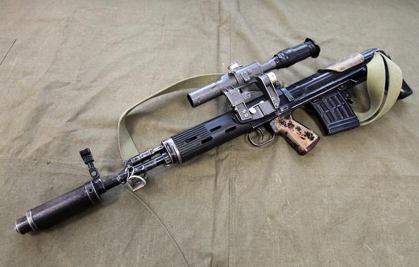 Картинка оружие, Россия, винтовка, снайперская, самозарядная, СВУ-АС, компоновки булл-пап