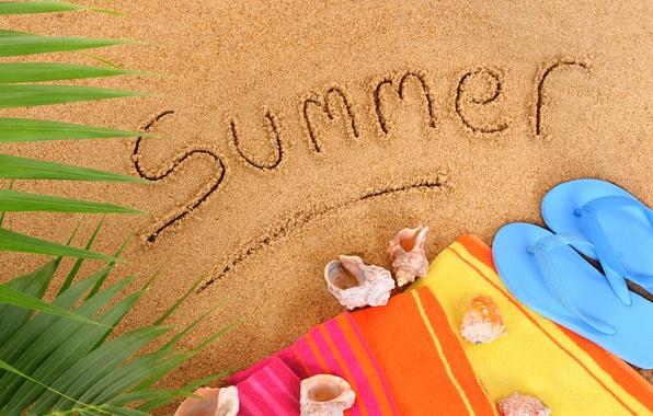 Картинка summer, beach, sand, sunny day, vacation
