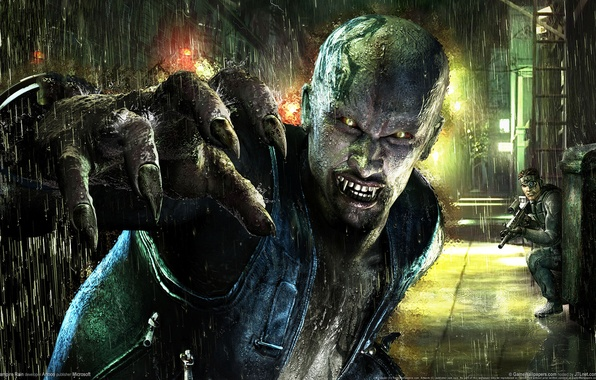 Фото обои вампир, vampire rain, дождь