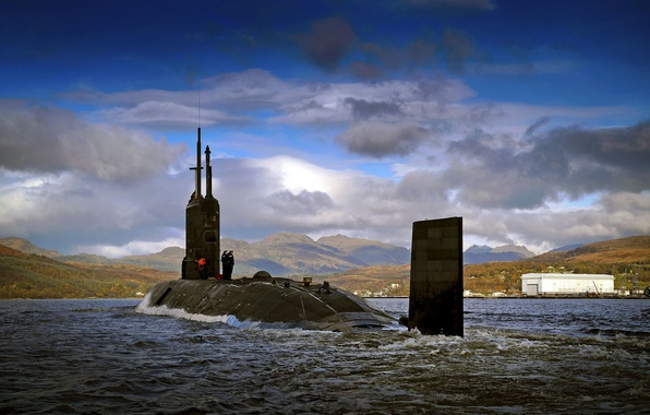 Картинка лодка, подводная, тип, атомная, Trafalgar -класс, (S93), HMS Triumph