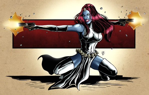 Картинка арт, X-Men, art, marvel, comics, марвел, mystique, мистик
