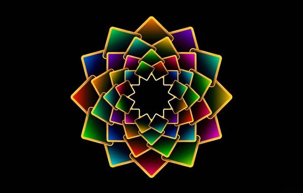 Картинка цветок, лепестки, объем, симметрия, слой, пластина