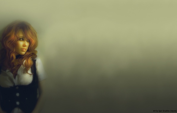 Картинка взгляд, Девушка, минимализм