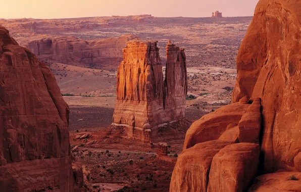 Картинка песок, горы, скалы, пустыня, каньон