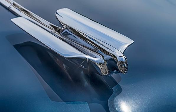 Картинка макро, ретро, Cadillac, эмблема, 1946
