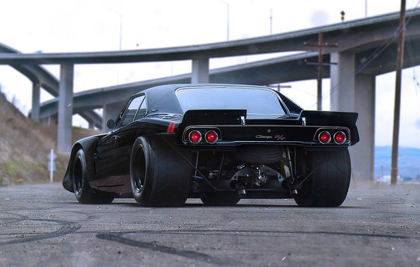 Картинка Muscle, Dodge, Car, Black, Charger, Tuning, Future, Drag, by Khyzyl Saleem, R/TK17