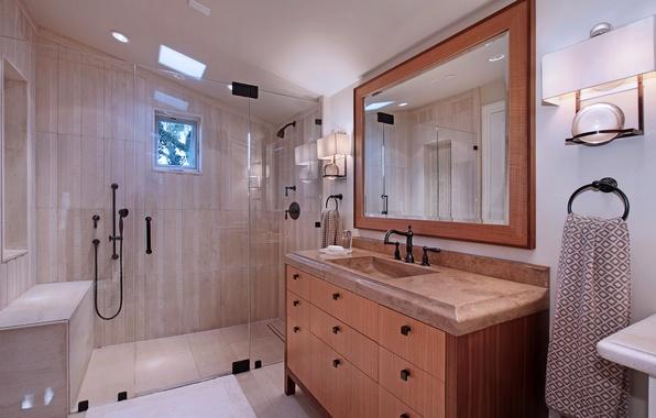 Картинка дизайн, фото, интерьер, зеркало, ванная