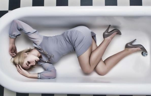 Картинка девушка, ванна, Dasha