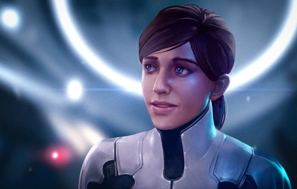 Картинка женщина, арт, рыжая, mass effect, bioware, andromeda, Mass Effect: Andromeda